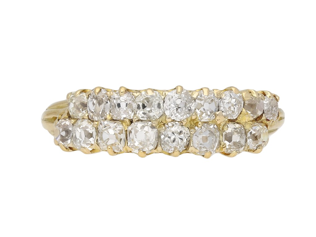 Victorian two row old mine diamond ring berganza hatton garden