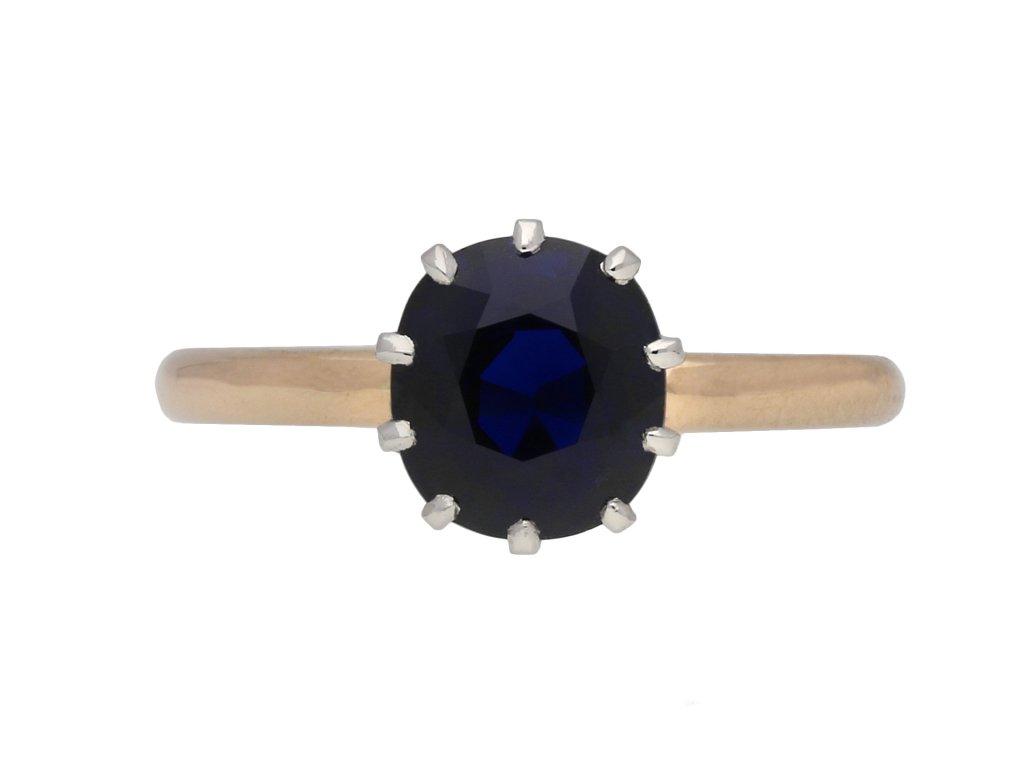 Burmese sapphire solitaire ring berganza hatton garden