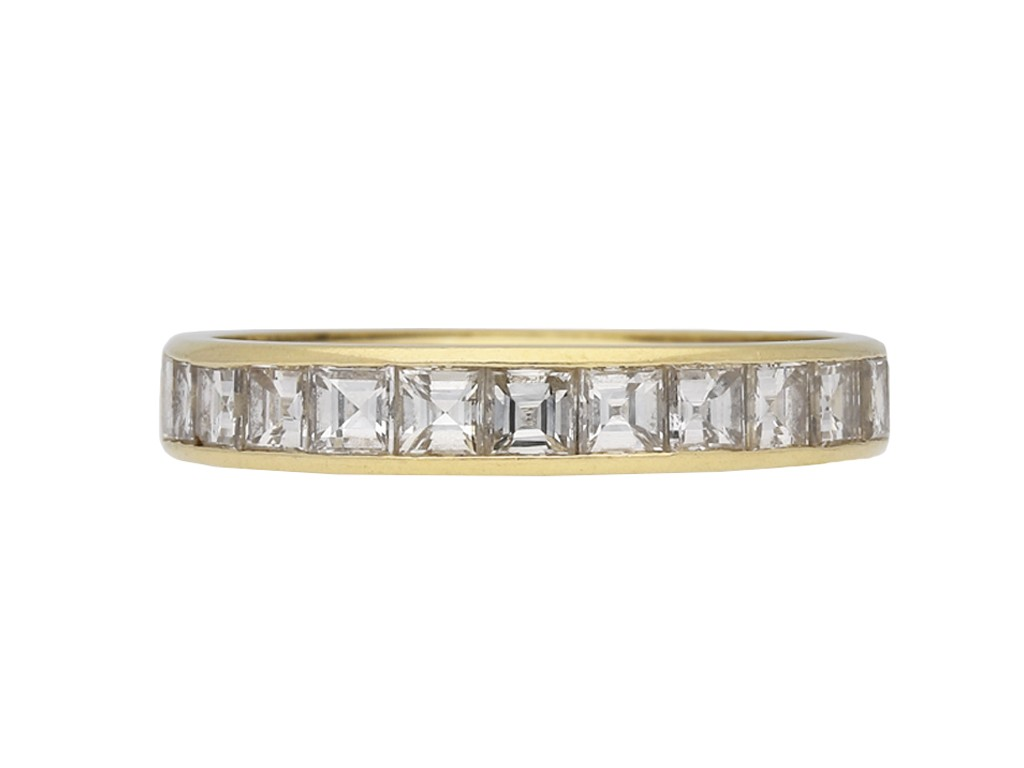 Vintage diamond half eternity band hatton garden berganza