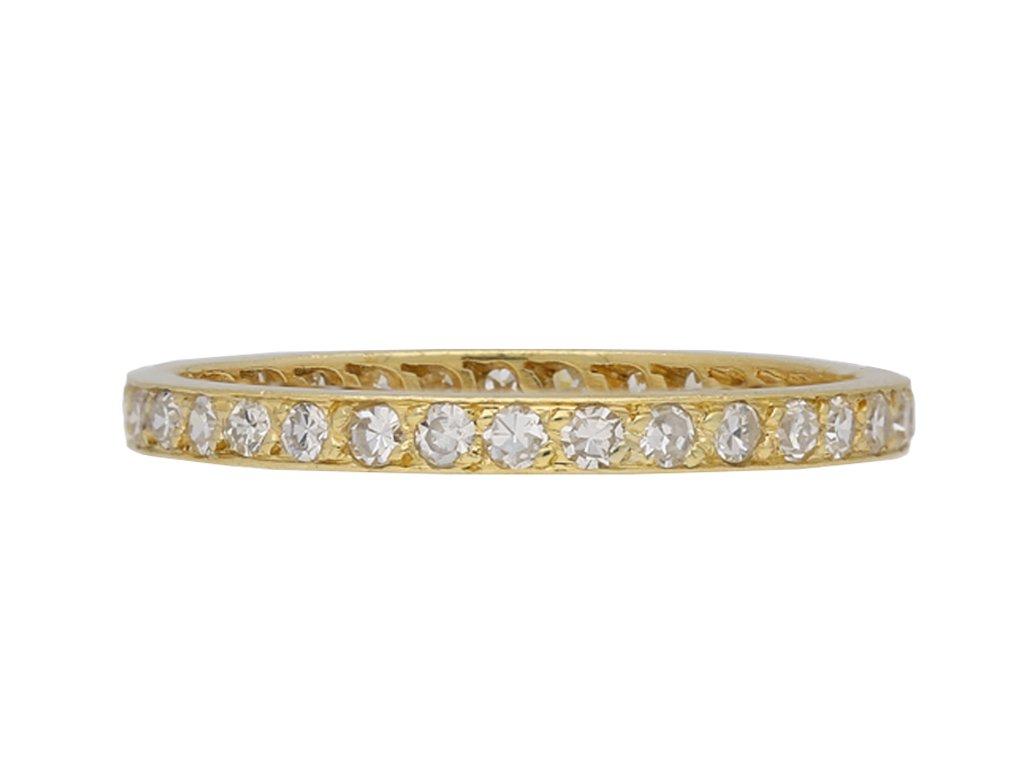 Vintage diamond set full eternity ring berganza hatton garden