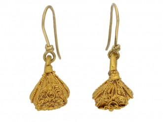Greek filigree gold earrings berganza hatton garden