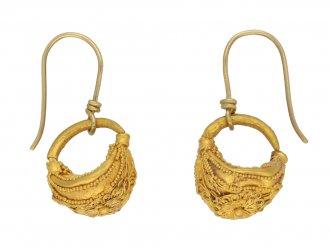 Greek filigree gold earrings berganza hatton garden