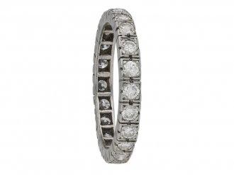 French Diamond eternity ring berganza hatton garden