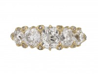 Victorian five stone old mine diamond ring berganza hatton garden