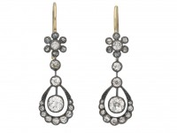 Victorian diamond drop earrings berganza hatton garden
