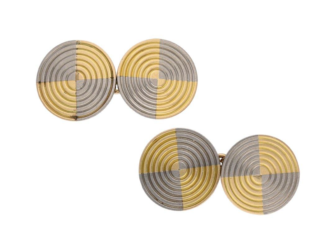 Vintage gold and platinum cufflinks berganza hatton garden