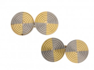 Vintage gold and platinum cufflinks berganza hatton garden