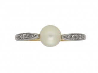Edwardian pearl and diamond ring berganza hatton garden