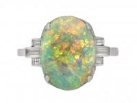 Art Deco opal and diamond ring berganza hatton garden