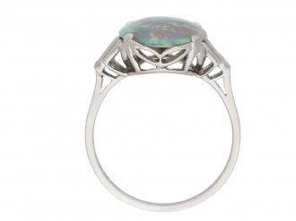 Art Deco opal and diamond ring berganza hatton garden