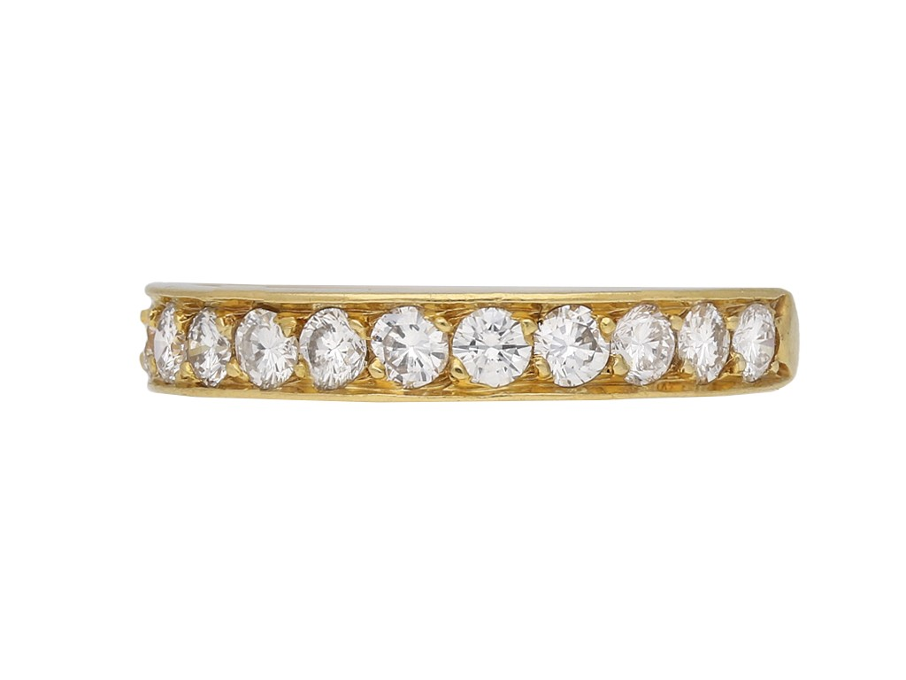 Vintage Cartier diamond half eternity band berganza hatton garden