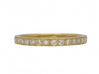Diamond and yellow gold half eternity band berganza hatton garden