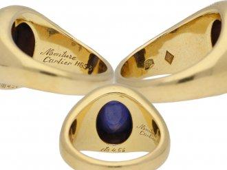 Monture Cartier Burmese sapphire ring berganza hatton garden