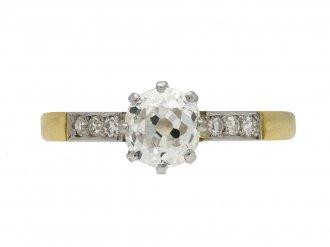 Edwardian diamond ring berganza hatton garden