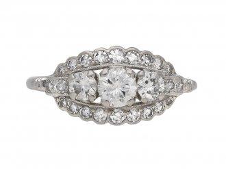 Alabaster & Wilson vintage diamond ring berganza hatton garden