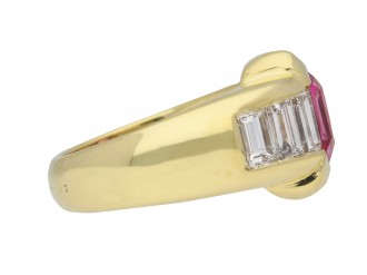 Ceylon pink sapphire and diamond ring berganza hatton garden