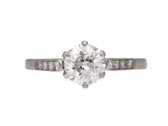 Edwardian diamond ring berganza hatton garden