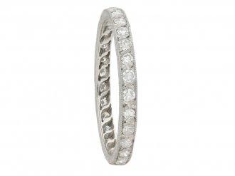 Antique engraved diamond set eternity ring berganza hatton garden