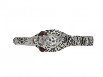 Vintage diamond ruby snake eternity ring berganza hatton garden