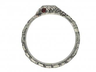 Vintage diamond ruby snake eternity ring berganza hatton garden