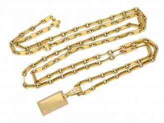 Vintage Cartier gold ingot pendant chain berganza hatton garden
