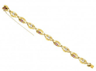 Art Nouveau ruby and diamond bracelet berganza hatton garden
