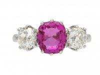 Ceylon pink sapphire diamond ring berganza hatton garden