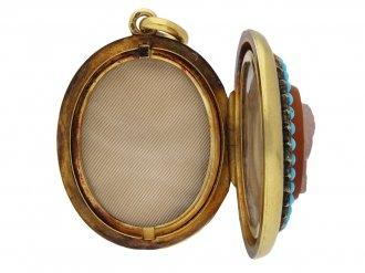 Victorian cameo locket berganza hatton garden
