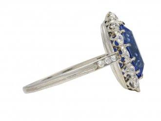 Edwardian Ceylon sapphire coronet ring berganza hatton garden