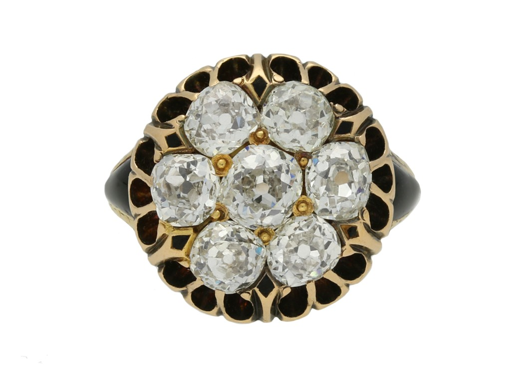 Victorian converted button ring berganza hatton garden