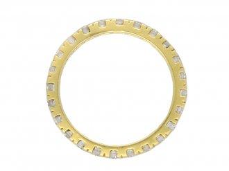 Vintage diamond eternity ring berganza hatton garden