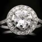 Edwardian diamond cluster ring, circa 1915.