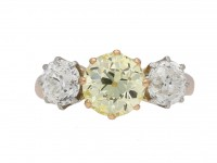 Edwardian fancy yellow diamond ring berganza hatton garden