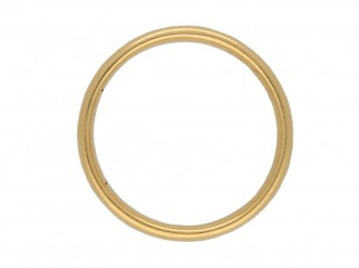 22ct yellow gold wedding band berganza hatton garden