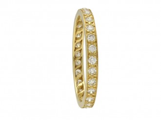 Vintage diamond set full eternity ring berganza hatton garden
