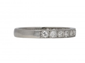 Vintage diamond half eternity ring berganza hatton garden