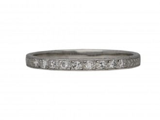 Diamond engraved half eternity band berganza hatton garden