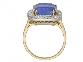 Edwardian sapphire diamond coronet cluster berganza hatton garden