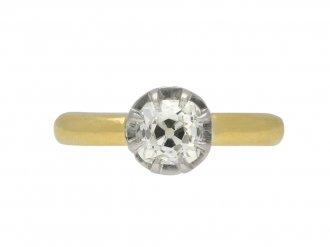 Edwardian old mine diamond solitaire ring berganza hatton garden