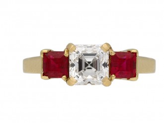 Vintage Tiffany & Co. diamond ruby ring berganza hatton garden