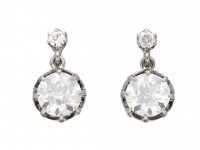Belle Époque diamond drop earrings berganza hatton garden