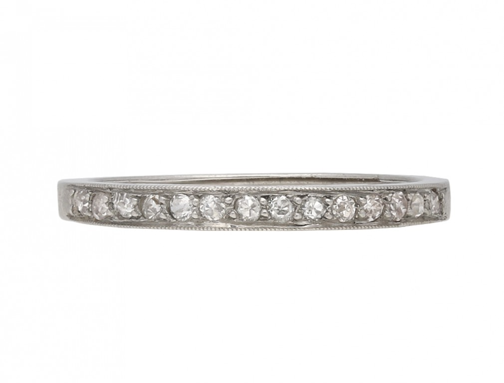 Vintage diamond set half eternity ring berganza hatton garden