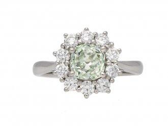 Vintage fancy diamond coronet cluster ring berganza hatton garden