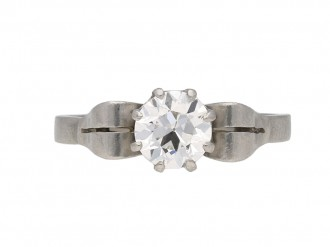 Art Deco diamond solitaire ring berganza hatton garden