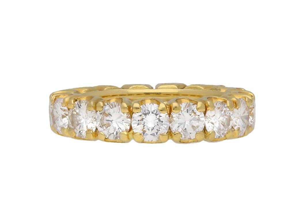Vintage diamond eternity ring yellow gold berganza hatton garden