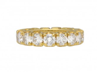 Vintage diamond eternity ring yellow gold berganza hatton garden