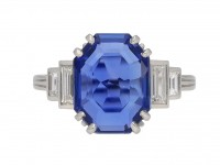 Art Deco Ceylon sapphire and diamond ring berganza hatton garden