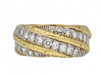 Vintage diamond set gold eternity band berganza hatton garden