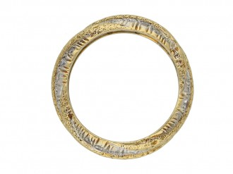 Vintage diamond set gold eternity band berganza hatton garden