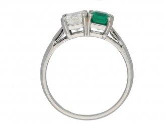 Art Deco diamond and emerald ring berganza hatton garden